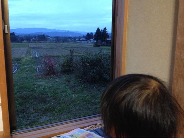 20151117家から見た田んぼ&十和子の頭HPブログ